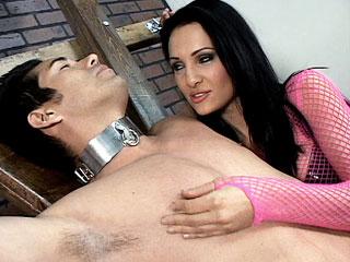 Asian dominatrix Christina Aguchi punishes her lazy submissive partner with bondage